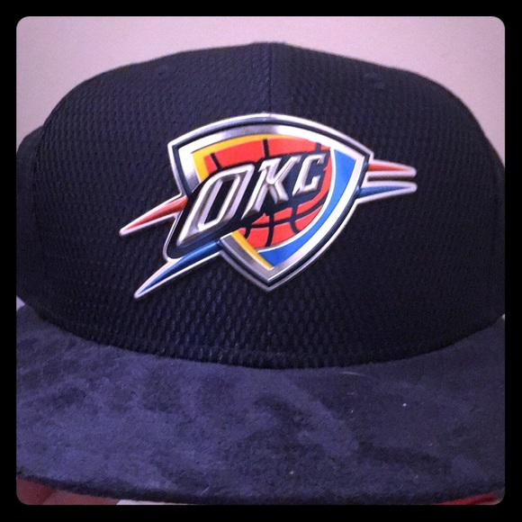 Oklahoma City Thunder fitted on courtcollecter hat. NWT. New Era 0dab38707c2b